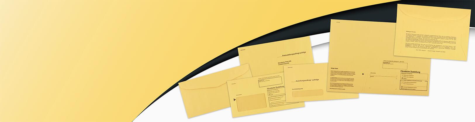 Innere und äußere Postzustellungumschläge
