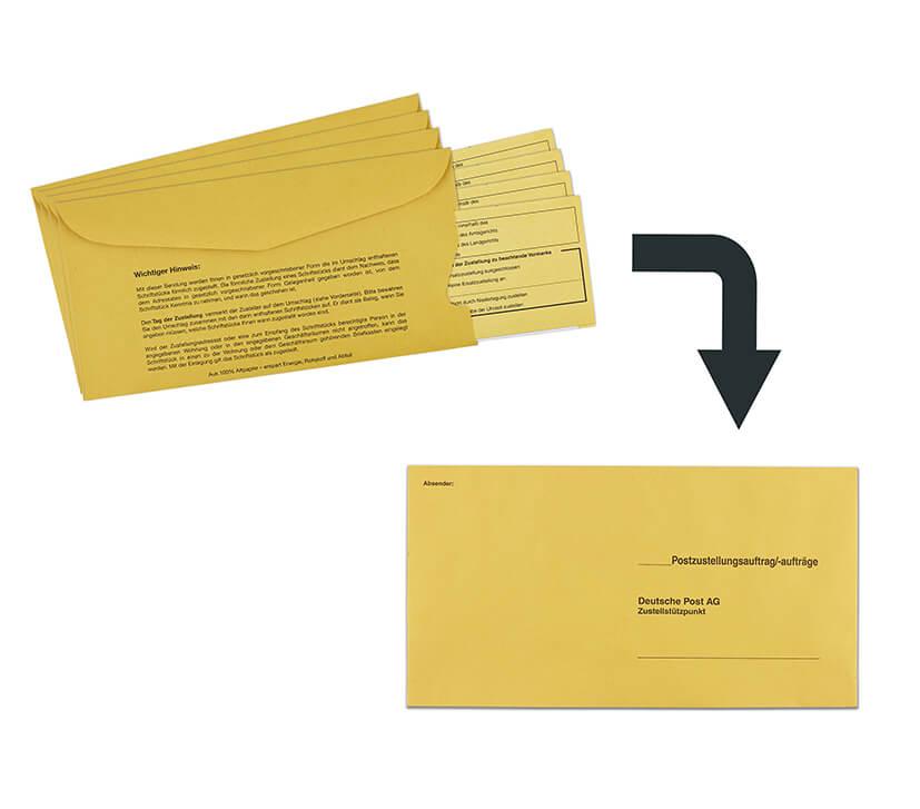 3. Wenn möglich mehrere Postzustellungsaufträge bündeln