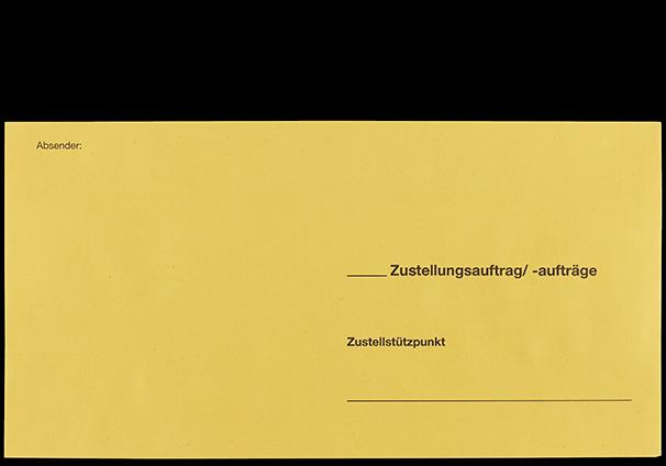 """Zustellungsumschlag 120x235 mm ohne Zusatzdruck """"Deutsche Post"""" Vorderseite"""