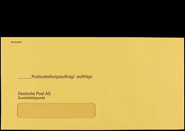 Postzustellungsumschlag mit Fenster 120x235 mm Vorderseite