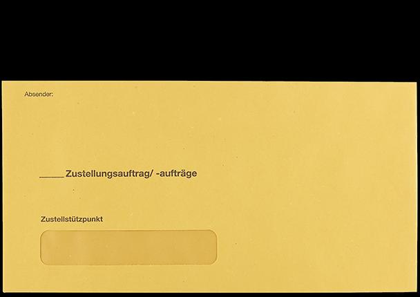 Postzustellungsumschlag 120x235 mm mit Fenster Vorderseite