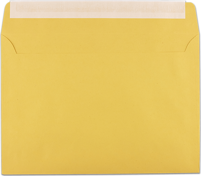 Zustellungsumschlag B5 Rückseite offen
