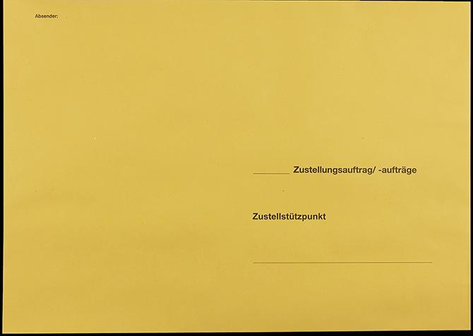 """Postzustellungsumschlag B4 ohne Zusatzdruck """"Deutsche Post"""" Vorderseite"""