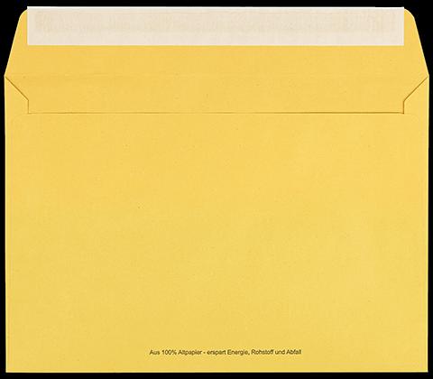 Zustellungsumschlag B5 mit Fenster Rückseite offen