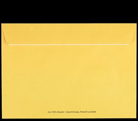 Postzustellungsumschlag B5 mit Fenster Rückseite geschlossen