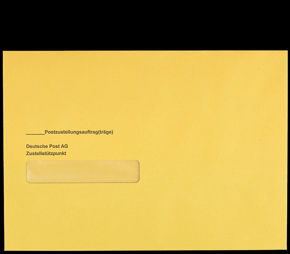 Postzustellungsumschlag B5 mit Fenster Vorderseite