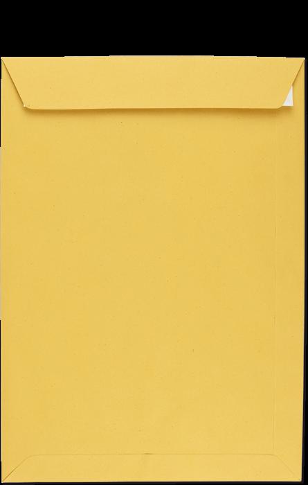 Postzustellungsumschlag C4 mit Haftklebung, Rückseite geschlossen